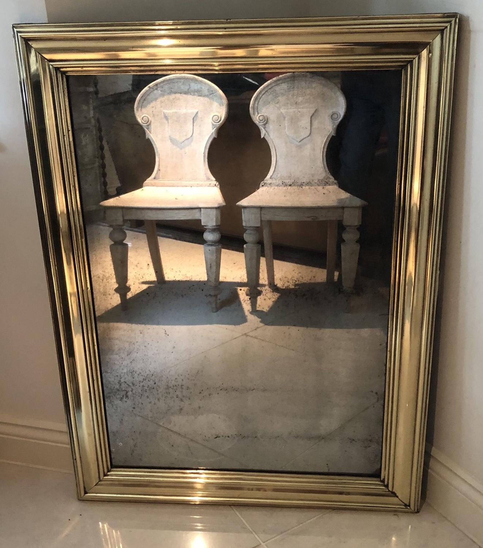 A Brass Bistro Mirror