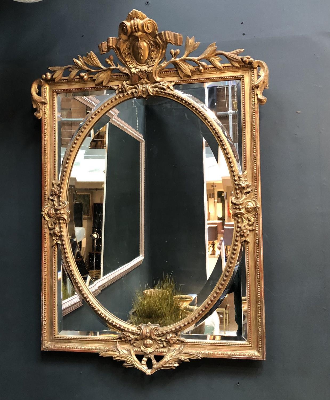 A Napoleon III Giltwood Mirror