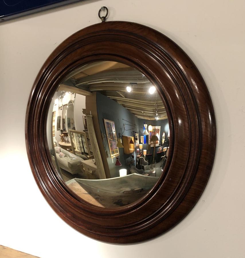 A Mahogany Convex Mirror