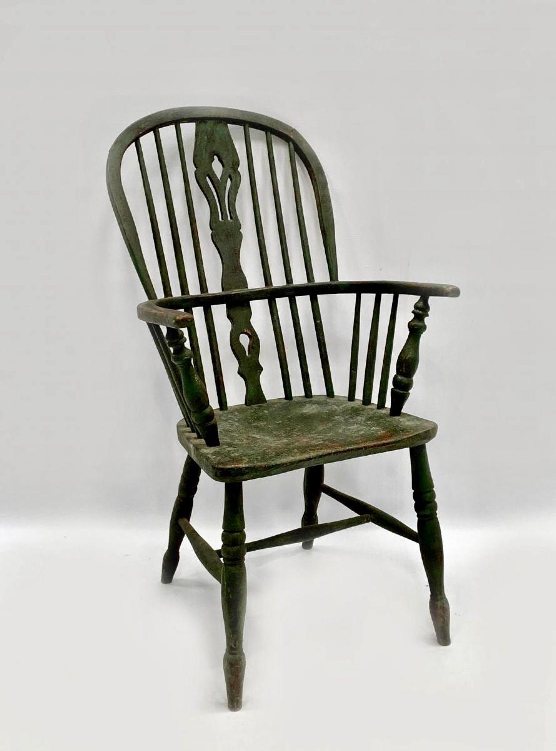 A painted Windsor chair