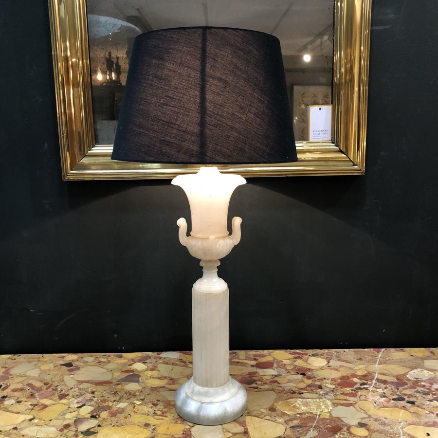 An Alabaster table lamp