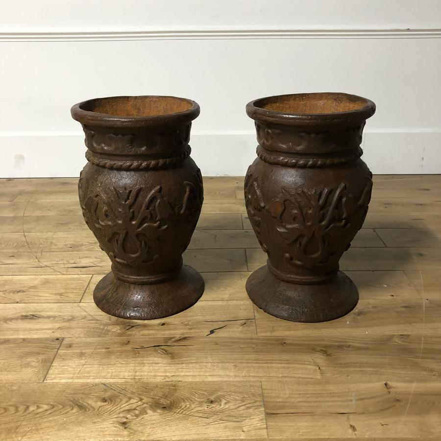 A pair of large urns