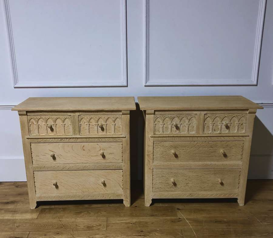 A pair of arts and crafts chests