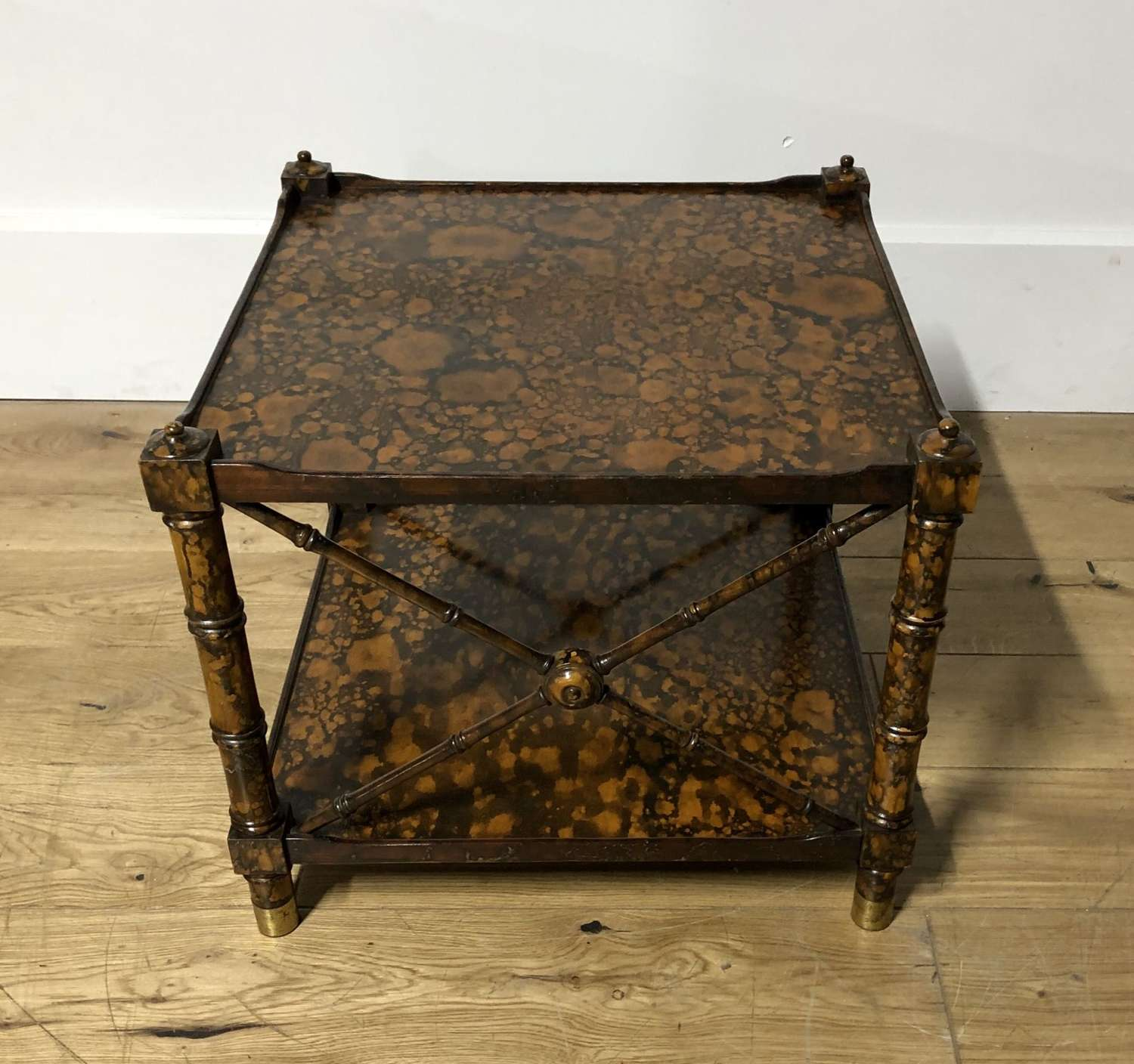 A two tier side table