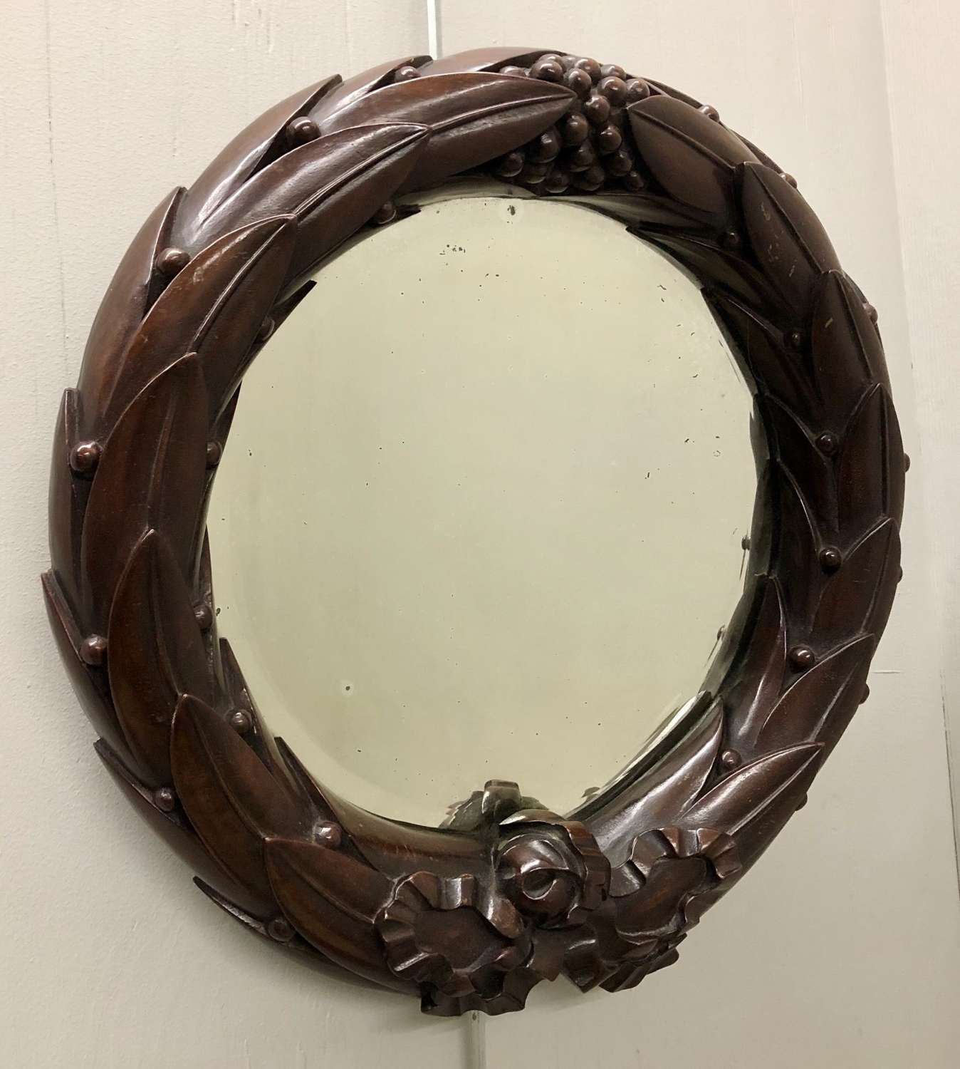 A Laurel Wreath Mirror