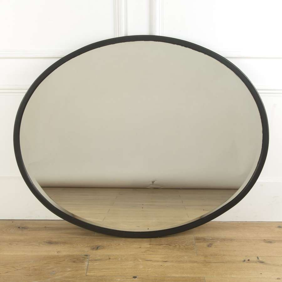 A large Edwardian Oval mirror