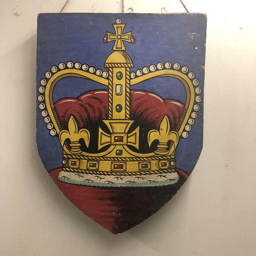 Coronation decorative shield