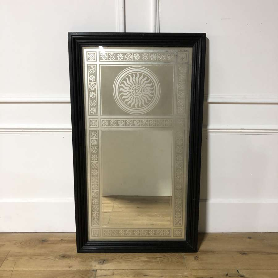 An English Acid Etched Mirror