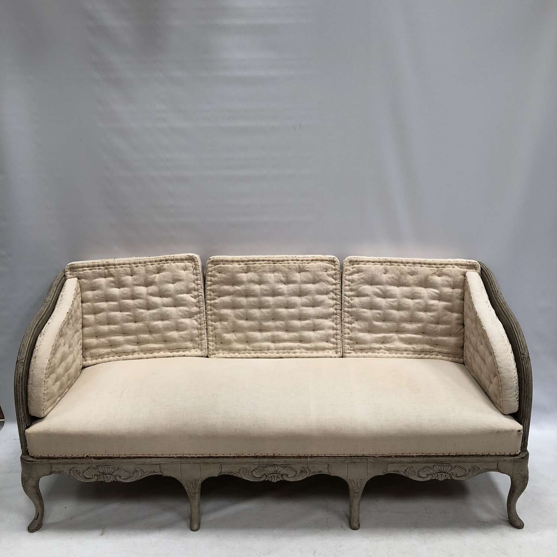 A 19thC Swedish Trag Sofa