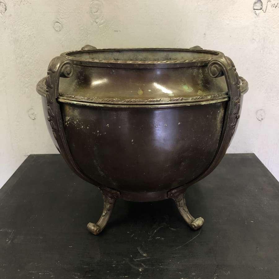 A brass planter