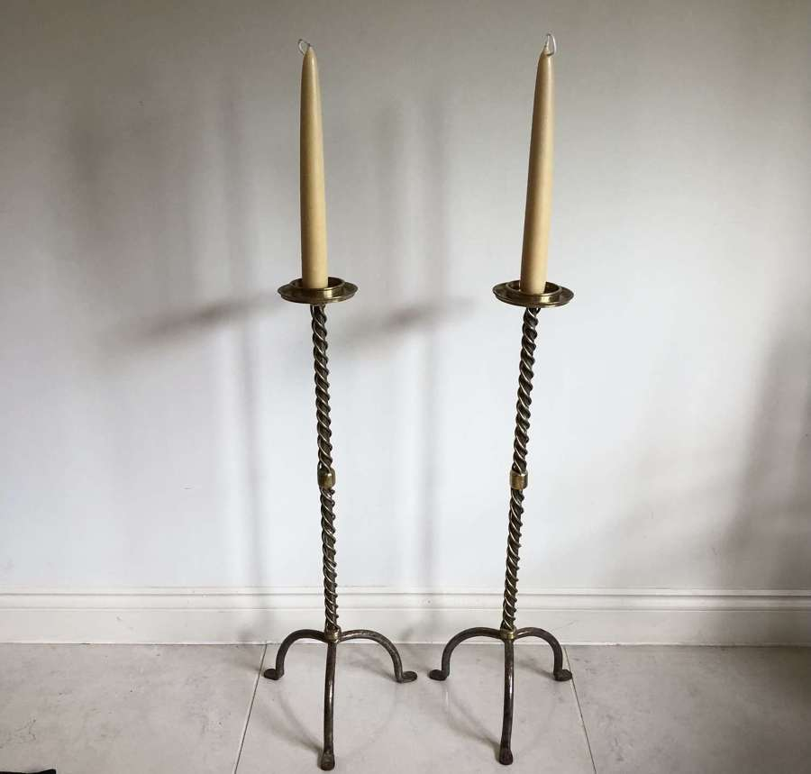 A pair of Church Alter candle sticks