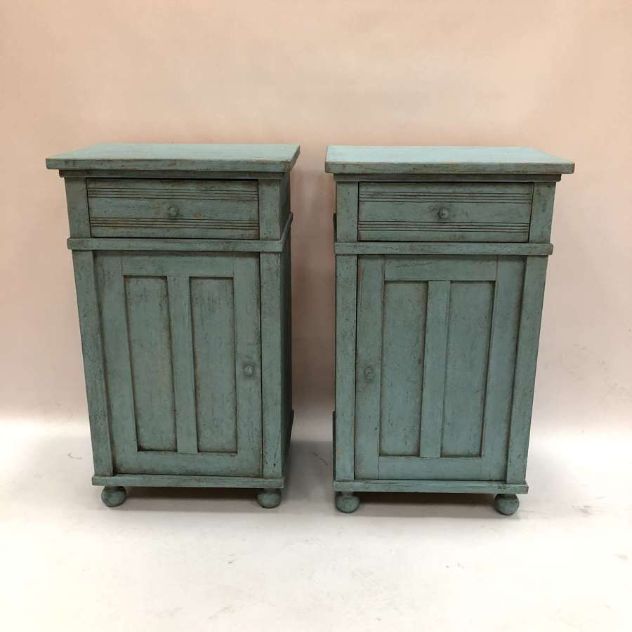 A pair of Swedish bedside tables