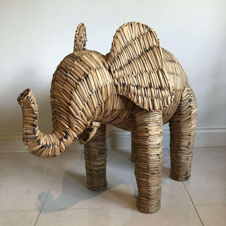 A rush work elephant